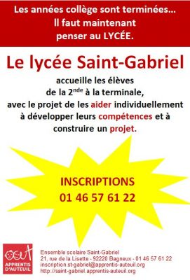Flyer Inscriptions Lycée